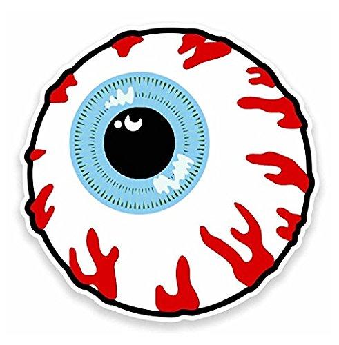 3 Pack - Cartoon Eye Eyeball Vinyl Sticker Decal - Sticker Graphic - Construction Toolbox, Hardhat, Lunchbox, Helmet, Mechanic, - Eyeball Decal