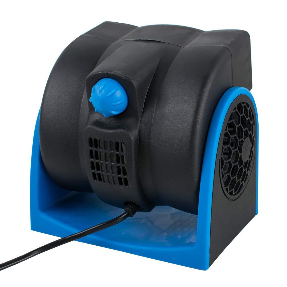 Pevor Car DC12V Air Cooling Fan Auto Truck Vehicle SUV Adjustable Speed Silent Cooler Vent (Blue, 12v)