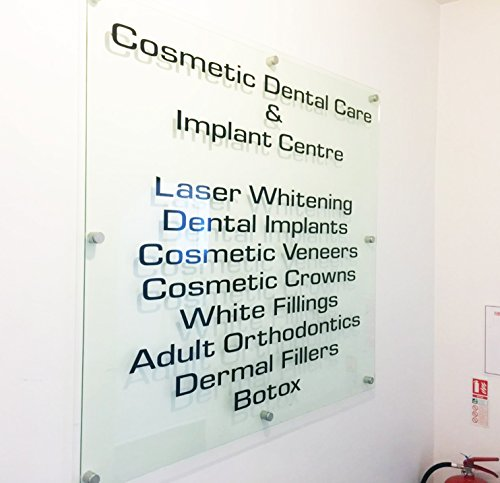 Business Front Sign Clear Acrylic Panel for Office Clinic Bar Restaurant Law Firm (Single Panel 24x36) by THEDISPLAYDEAL