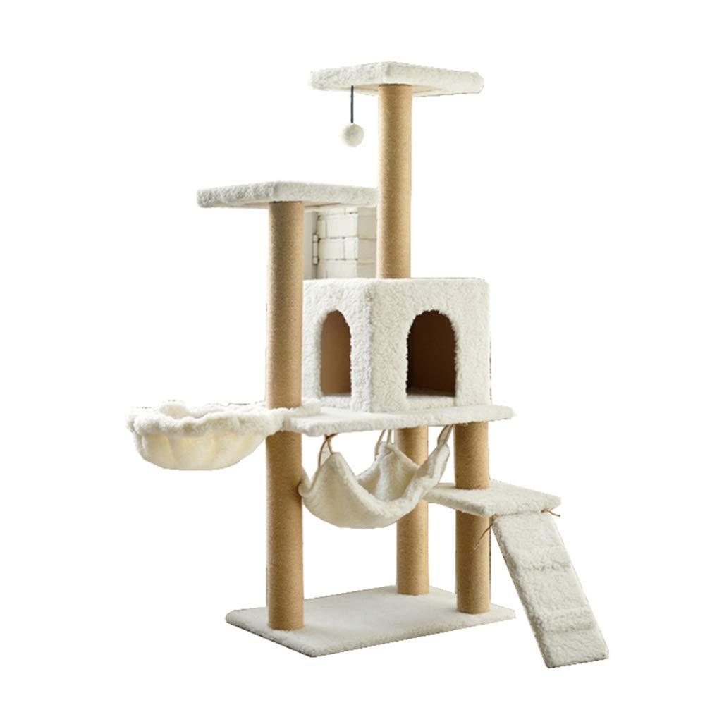 presentando tutte le ultime tendenze della moda Hongge Tiragraffi per Gatti, 5-Tier Kitten Playhouse Playhouse Playhouse Furniture Sisal Tiragraffi Coperti Poggiapiedi Piattaforme Dangling Ball 140cm  vendita outlet