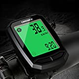DRBIKE Bicycle Computer,Wireless Speedometer with 13 Functions for Mountain Bike & Road Bike, LCD Screen, Backlight