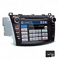 XTRONS Double 2 Din 8 inch HD Digital Touch Screen Car Stereo Radio In Dash DVD Player GPS Screen Mirroring Dual Canbus for Mazda 3 Navigation Map Card Included