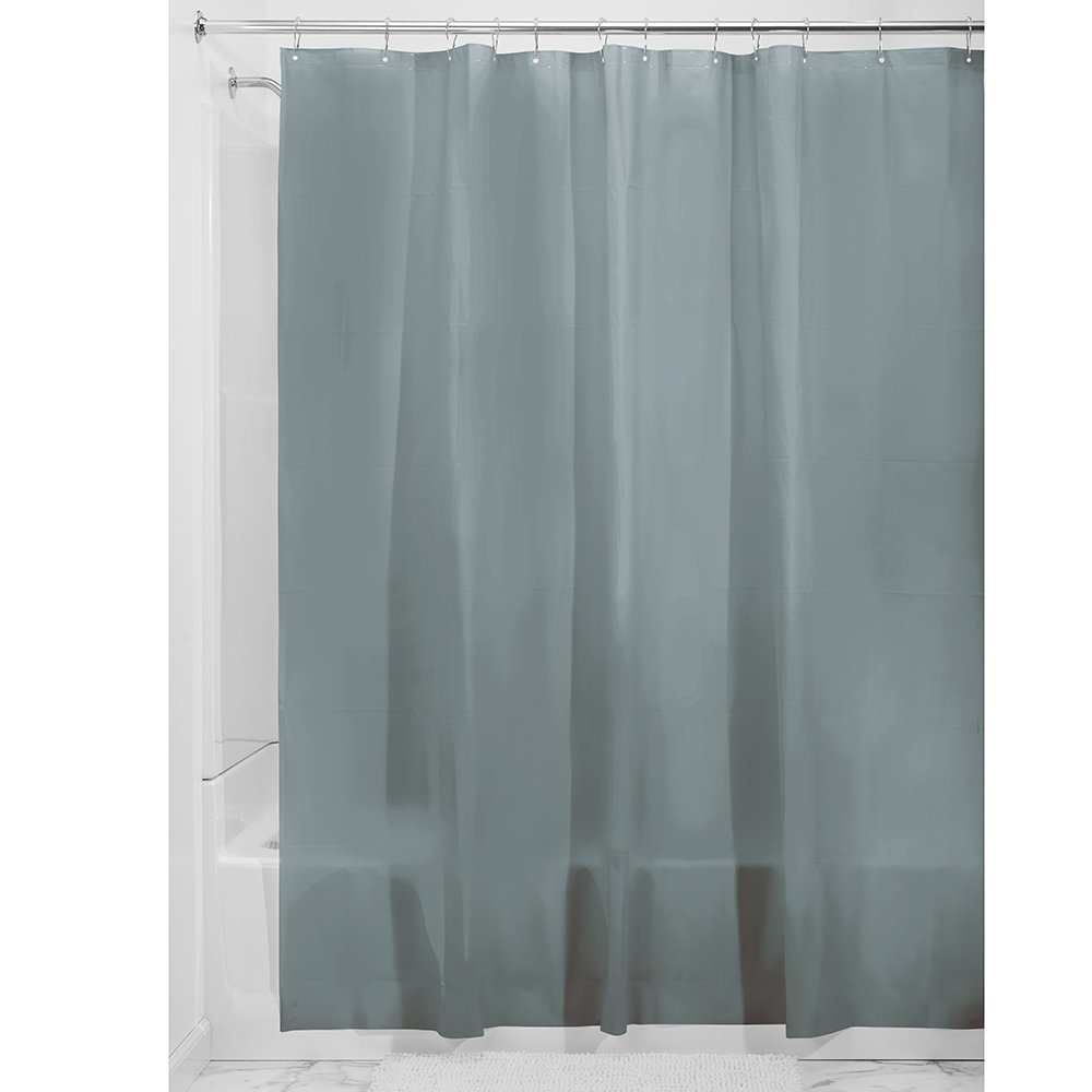 Plastic Shower Curtain for use Alone or With Fabric Curtain InterDesign 12056 Shower Curtain Liner
