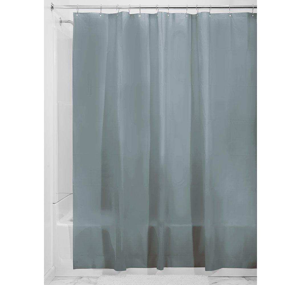 Long 72 x 84 Deep Teal iDesign Vinyl 4.8 Gauge Shower Curtain Liner