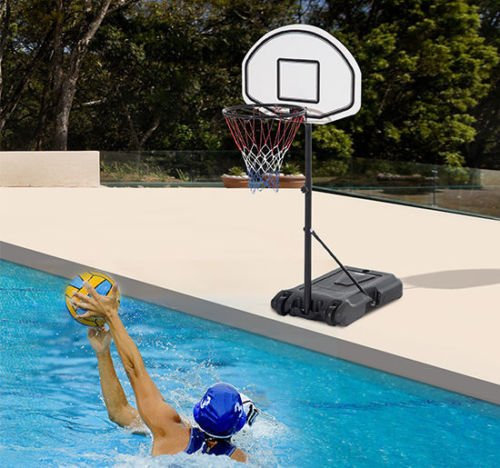 Poolside Basketball Hoop System Pool Water Sport Game Play Outdoor Adjustable by SpiritOne (Image #2)