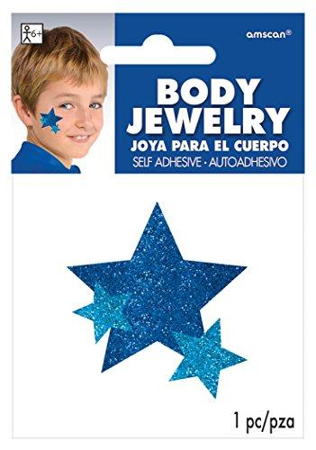 Amscan Spirit Glitter Body Jewelry, Blue]()