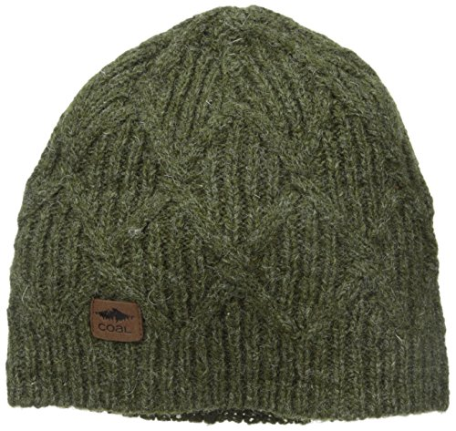 Coal Men's The Yukon Chunky Knit Warm Beanie Hat, Olive, One (Knit Hat Olive)