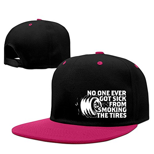 yque56-unisex-no-one-ever-got-sick-from-smoking-the-tires-hip-hop-cap-hat-adjustalbe-pink-one-size