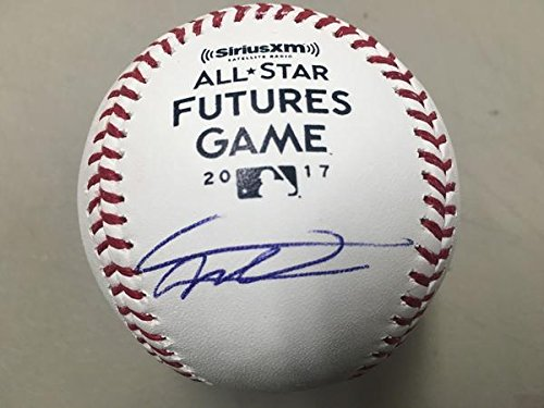 Vladimir Guerrero, Jr. Blue Jays Autographed Rawlings 2017 All-Star Futures Game Official Major League Baseball - JSA ()