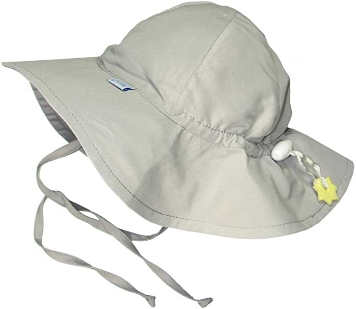 Infant i play Solid Brim Sun Protection Hat White 6-18 mo