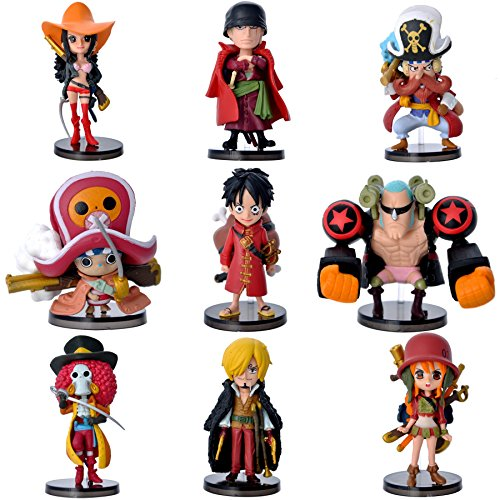 Coz' Place Set of 9 Pieces Mini One Piece Action Figures with stands (ONE PIECE FILM Z)