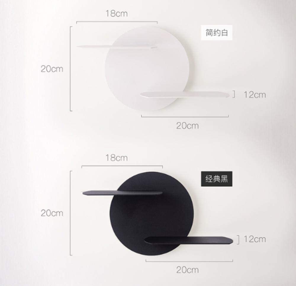 Wall Lighting Fixtures Bedroom Bedside Wall Lamp Living Room Hotel Room Background Wall Shelf Wall Lamp Black White