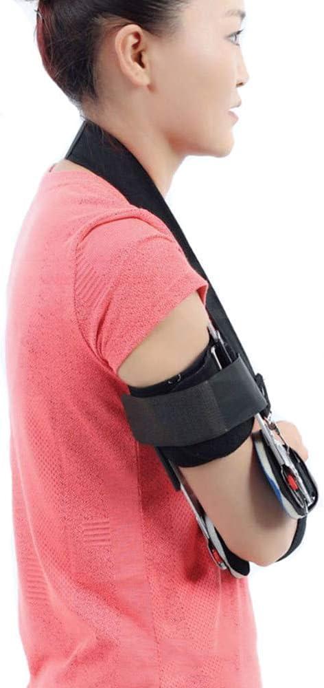 Zywtrade Bisagra ROM Codo Articulación ortopédica y Soporte de Fractura de Brazo Órtesis Postoperatorio OP Codo Estabilizador Férula Ligamento Rehabilitación de Lesiones,Right