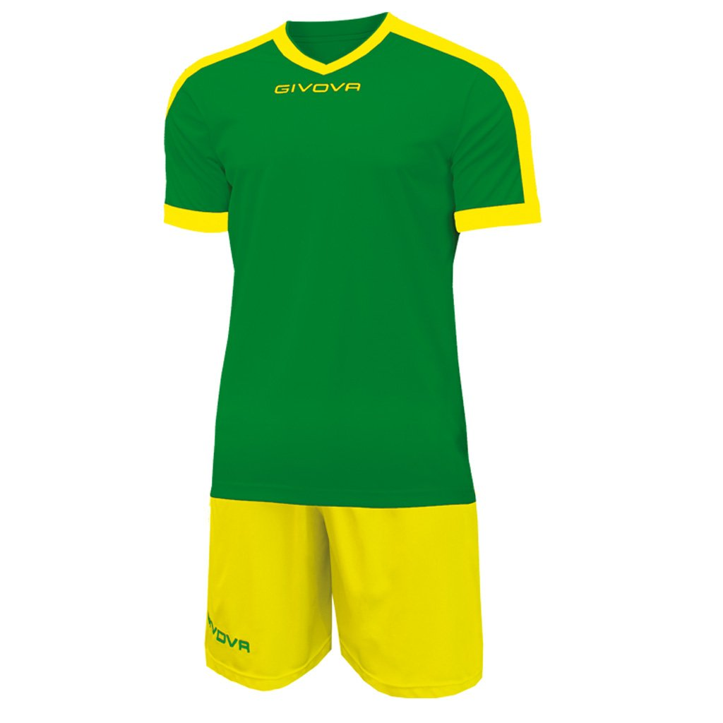 Marchio Givova - modello kit revolution - completino di maglia manica corta e pantaloncino / Home Shop Italia