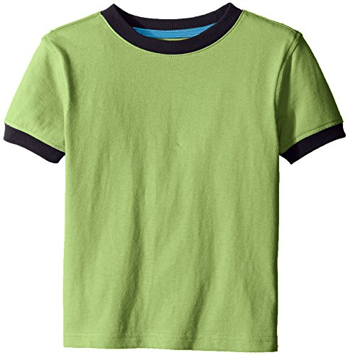 Contrast Ringer - Scout + Ro Little Boys' Short-Sleeve T-Shirt with Contrast Trim, Sea Green, 7