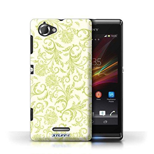 Etui / Coque pour Sony Xperia L/C2105 / Fleurs Jaunes conception / Collection de Fleurs