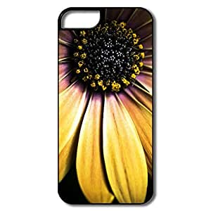 IPhone 5 Cases, Golden Shasta Daisy Cover For IPhone 5S - White/black Hard Plastic