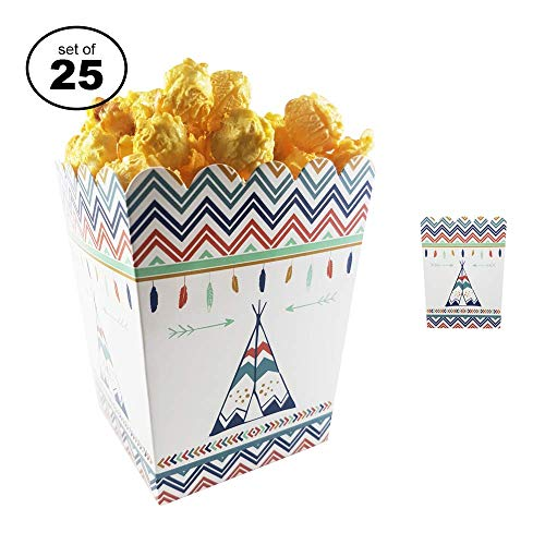 Favor Boxes For Baby Showers And Kids Birthday Parties. Perfectly Sized Portions For All Kinds Of Party Favors & Goodie Bags, Food Grade & Easy to Assemble, 25 per set. Aztec Arrow Theme