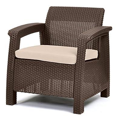 Keter Corfu Outdoor Armchair - Brown