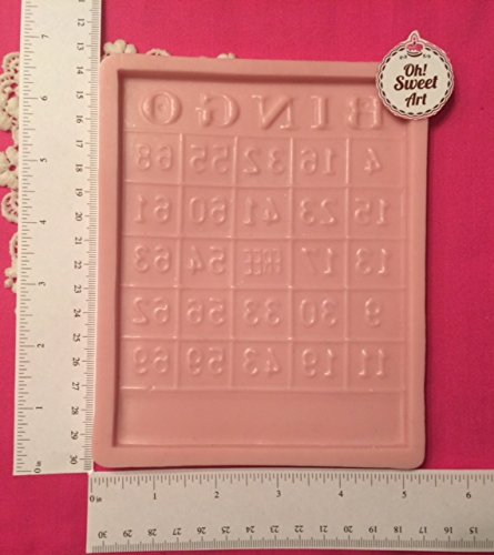 Bingo-Gambling (real size) , Casino ,fondant, soap cupcake topper Cake Silicone Mold By Oh! Sweet Art FDA Approved for Food, Cupcakes by Oh! Sweet Art
