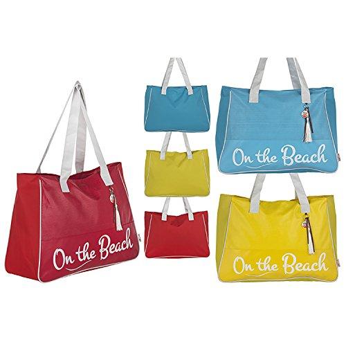 Bolsa di Playa con ASA diseño Original Tres Colores Beach Hogar Y más–Rosso