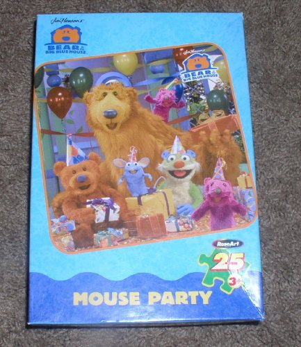 Amazoncom Bear In The Big Blue House Jigsaw Puzzle Mouse Party