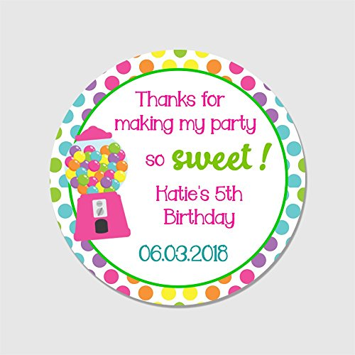 20 Customized Round Kid's Candy Party Favor Stickers - Thank You for Making My Party so Sweet Labels - Sweet Making