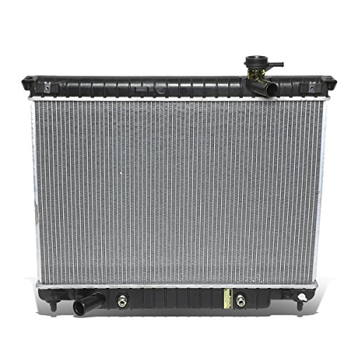 DNA Motoring OEM-RA-2458 Black Aluminum Radiator (02-09 Chevy Trailblazer) ()