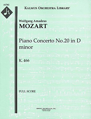 Cherry 466 - Piano Concerto No.20 in D minor, K.466: Full Score [A1762]