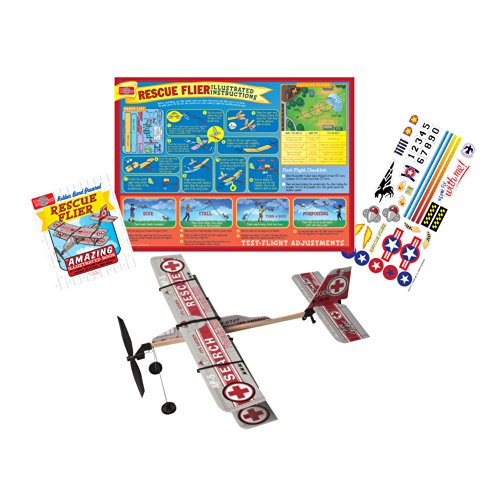Rubber Band Powered Vehicle (T.S. Shure Rubber Band Powered Rescue Flier Model Plane Kit)