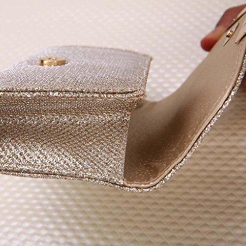 Party Ladies Gold Handbag Kimanli Upscale Sequins Banquet Women Purse Gold Small Clutch Bag Bag Evening XTxq4wwZn
