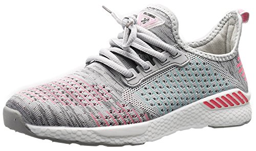 Beeagle Womens Fashion Sneakers Lightweight Athletic Running Casual Breathable Walking Shoes Gray 37