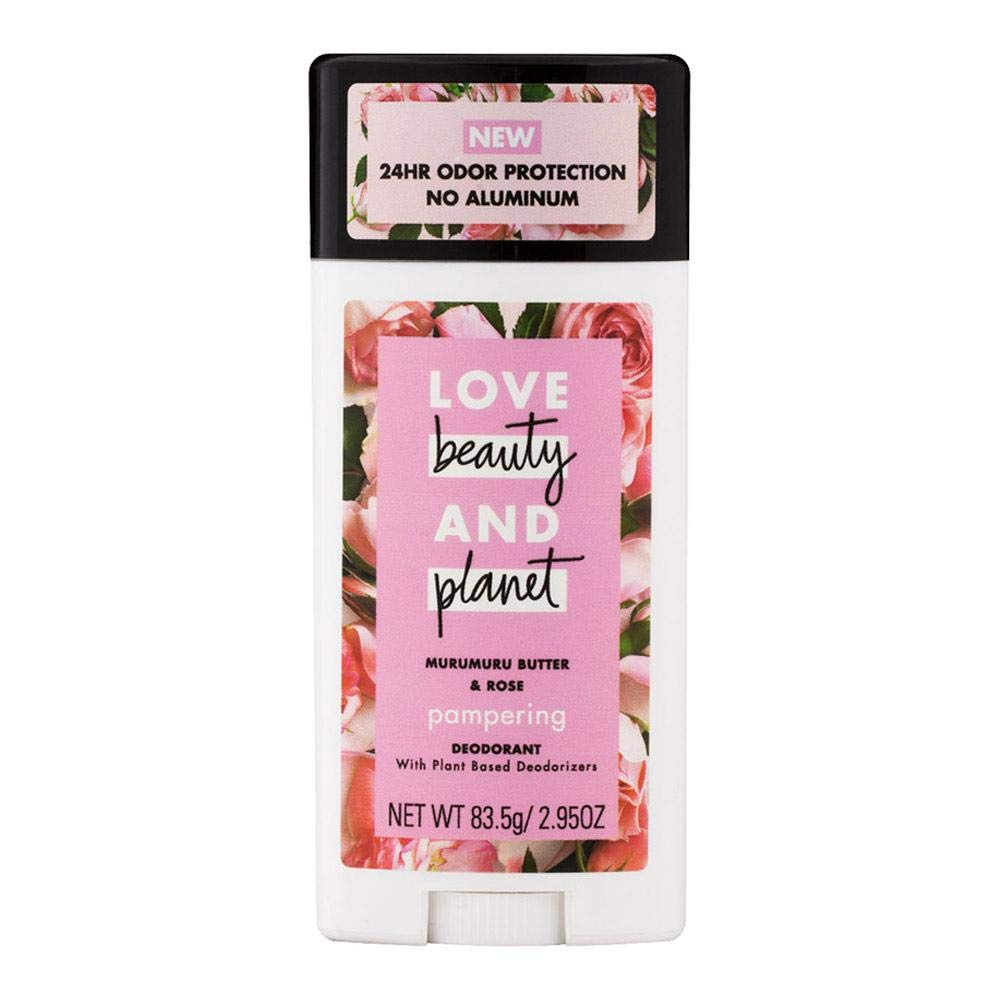 Love Beauty And Planet Deodorant, Murumuru Butter and Rose 2.95 oz