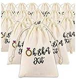 Bachelorette Party Favor Bags – 20-Pack Anti Hangover Kit, Bridal Party Supplies, Cotton