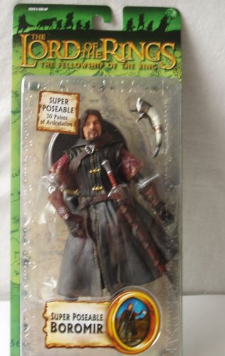 (Lord of the Rings Trilogy Fellowship of the Ring Action Figure Series 4 Super Poseable Boromir)