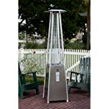 Stainless Steel Pyramid Flame 40,000 BTU Patio Heater
