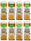 Organic Bone Broth Sampler- Three Free-range Chicken Versions & Turkey, 8 oz each (2 pack)