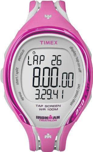 Timex Ironman 250 Lap Sleek Tap Screen Ladies Watch (Pink) T 5K591 SU
