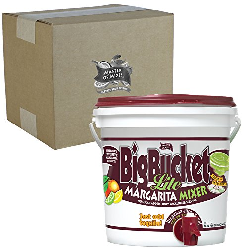 Master of Mixes Margarita LITE Mix, Ready to Use, 96 oz BigBucket, Individually Boxed by Master of Mixes