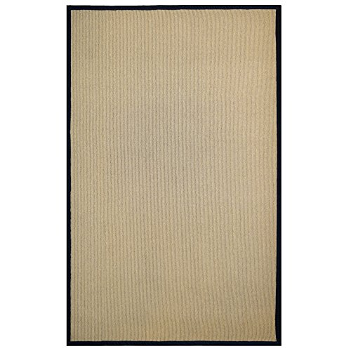 Amazon ICustomRug Zara Contemporary Synthetic Sisal Rug Softer Than Natural Stain Resistant Easy To Clean Beautiful Border In Black
