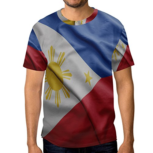 super3Dprinted Philippines Flag Men's Short Sleeve T-Shirt Top Tee
