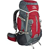 Highlander Rocky Hiking Backpack ― 40 Litre Capacity Quality Rucksack ― Great Unisex Bag for Men & Women ― Perfect for The Outdoor Enthusiast ― Black & Red