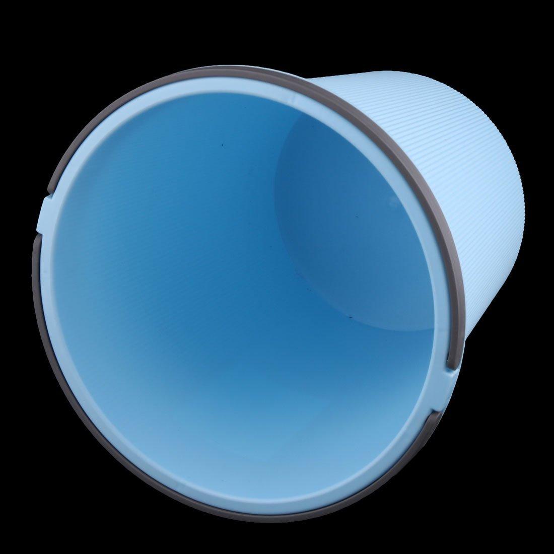 eDealMax plástico Ministerio del Interior al lado del escritorio de basura Cubo de basura Papelera de basura Bote de basura Azul