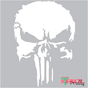 The Punisher Stencil - Scary Horror Skeleton Skull Template Best Vinyl Large Stencils for Painting on Wood, Canvas, Wall, etc.-XS (8