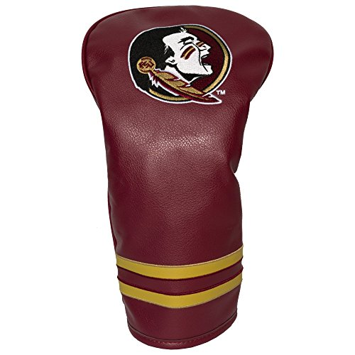 Team Golf NCAA Florida State Seminoles Vintage Driver Golf Club Headcover, Form Fitting Design, Retro Design & Superb Embroidery