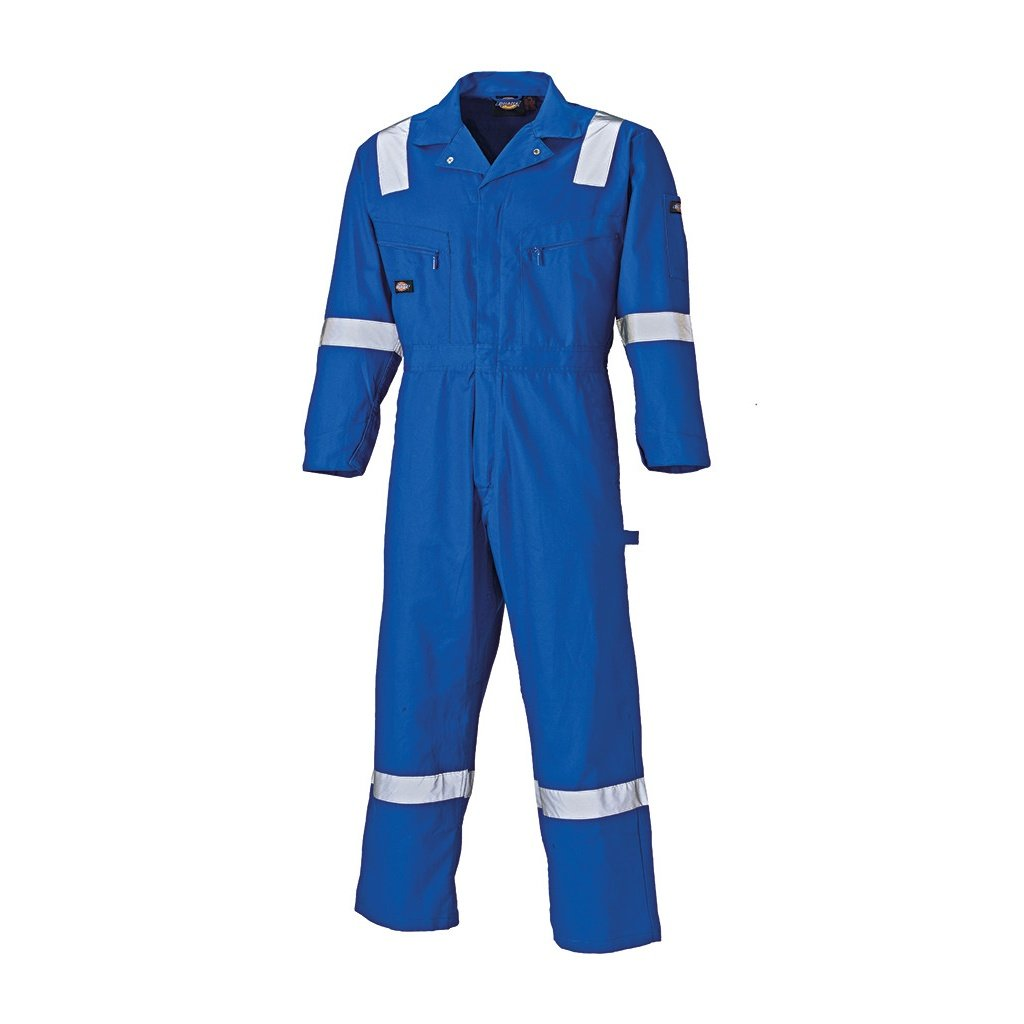 Dickies Mens Lightweight Reflective Cotton Overall/Coverall (L) (Navy) by Dickies