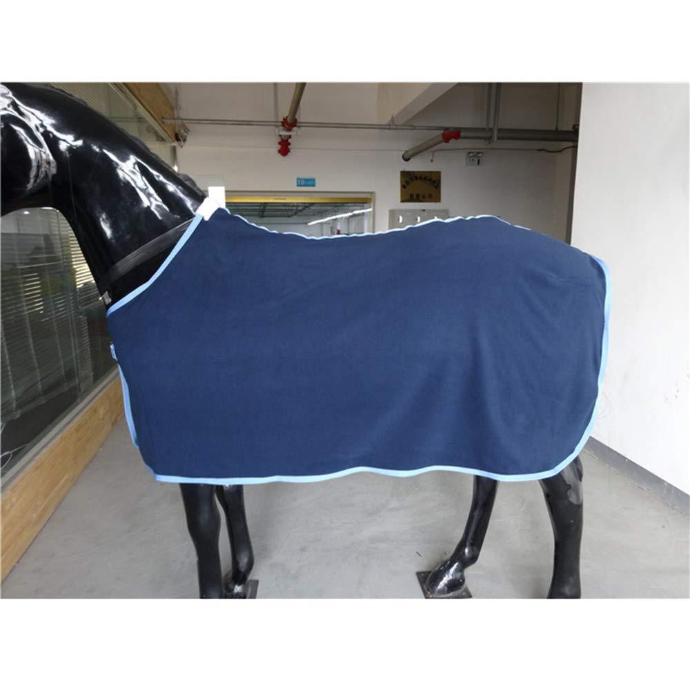 Horse Blanket Spring Autumn Winter Indoor Outdoor Lining Horse Blanket 300G Fleece Navy