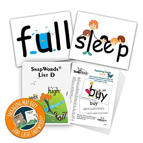 (SnapWords List D Teaching Cards - Sight Words)