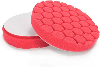 Chemical Guys BUFX/_107/_HEX6 Hex-Logic Ultra Light Finishing Pad 6 Inch Red