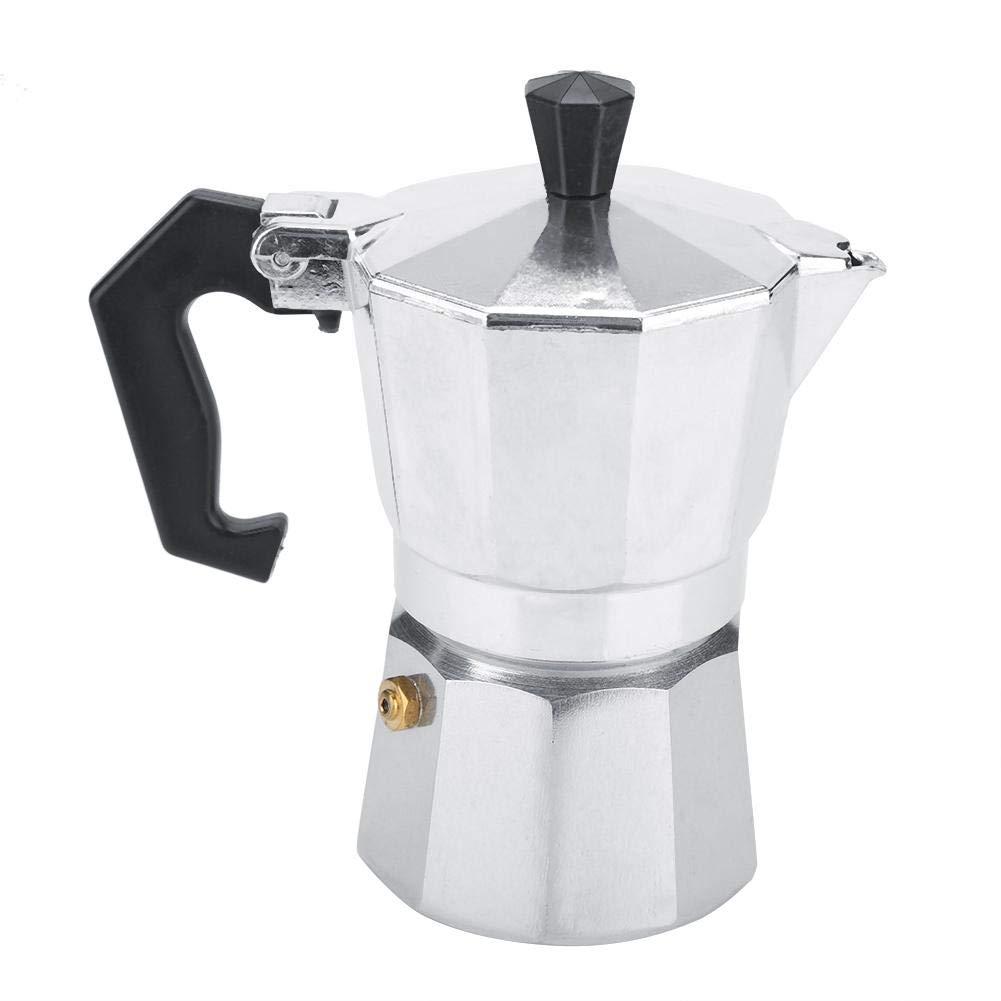 Acquisto Moka Express Caffettiera in alluminio, Macchina per caffè espresso, Caffettiera riutilizzabile Caffettiera per caffè Moka per casa, ufficio, 200 ml 2 tazze Prezzi offerta